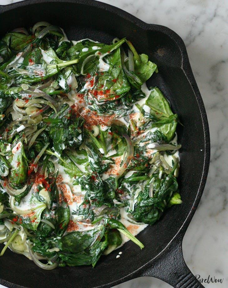Coconut Creamed Spinach recipe