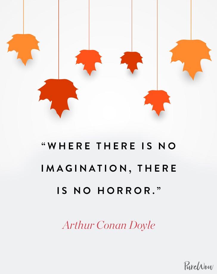 Halloween Quote Arthur Conan Doyle
