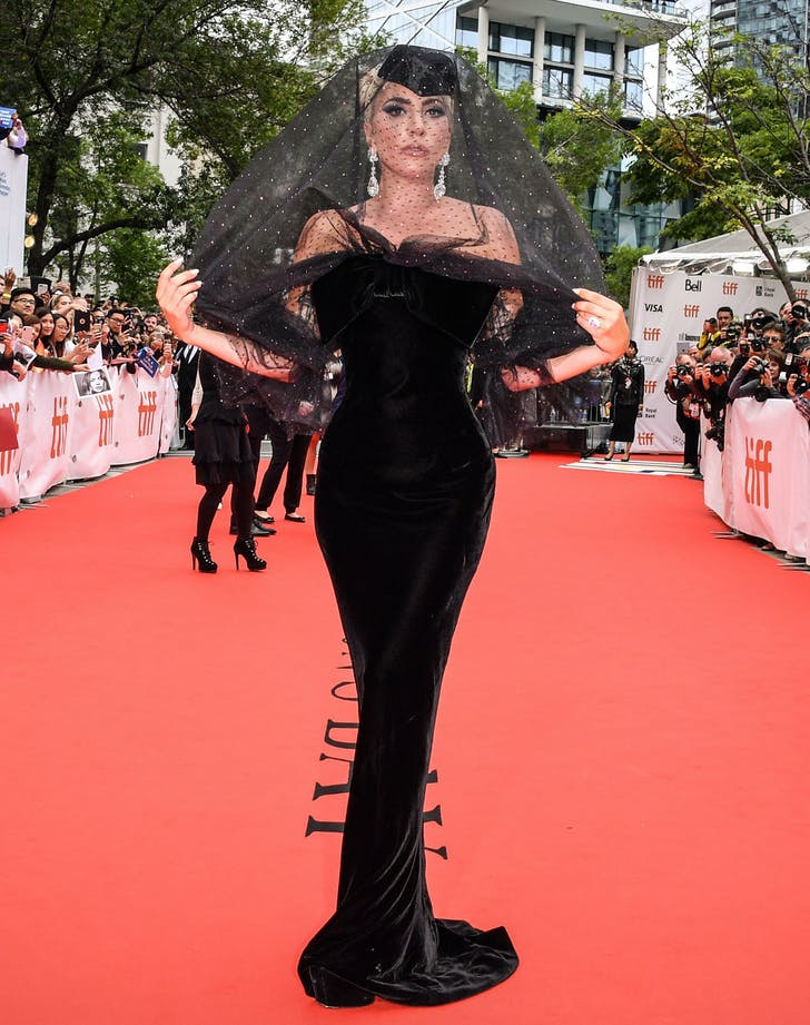 Lady gaga in armani prive at toronto international film festival