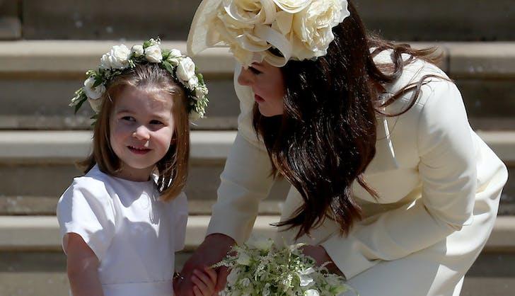 Princess Charlotte at Prince Harry Meghan Markle wedding