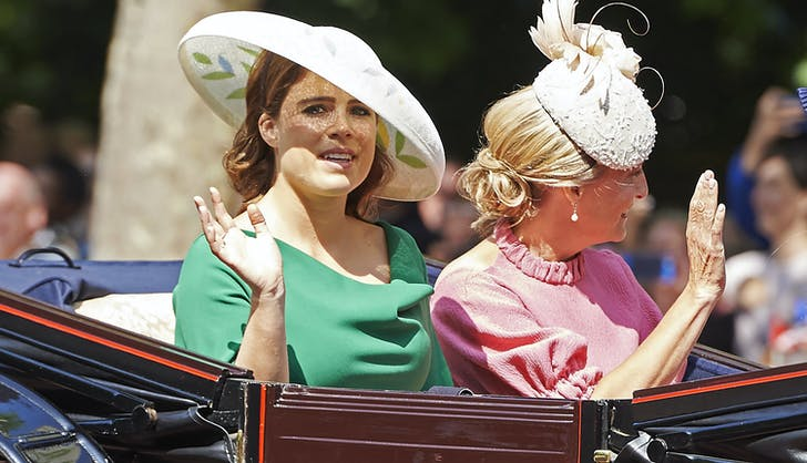 Princess Eugenie in carriage
