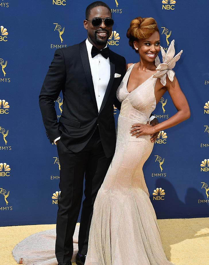 Sterling K Brown couple at Emmys