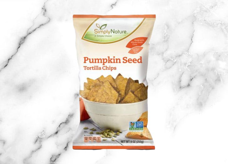 aldi simplynature pumpkin seed tortilla chips