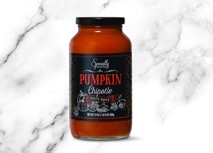 aldi specially selected pumpkin chipotle pasta sauce