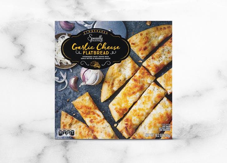 aldi specially selected garlic cheese flatbread
