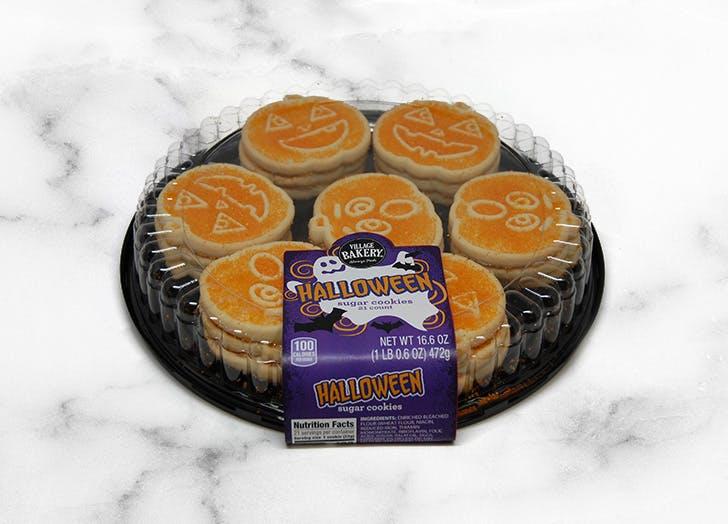 aldi village bakery halloween sugar cookie platter