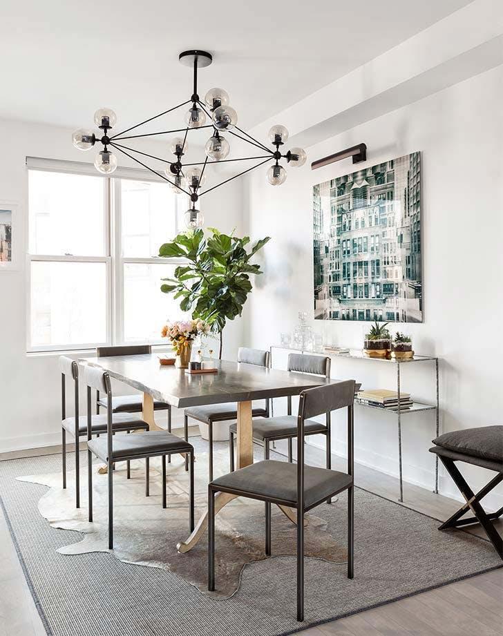 beautiful grey dining room chandelier
