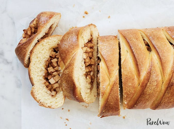 braided apple danish loaf