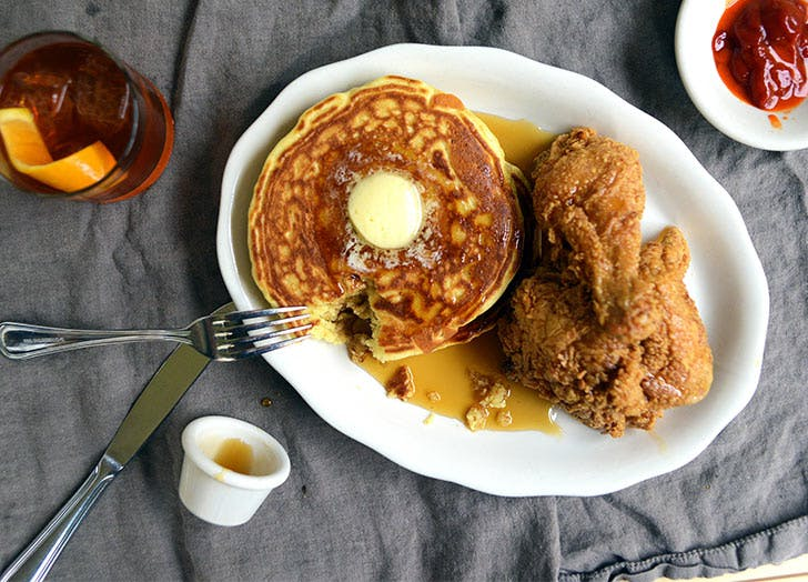bubbys fork pancakes fried chicken