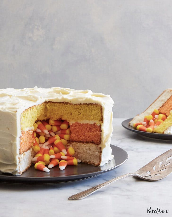 candy corn surprise cake