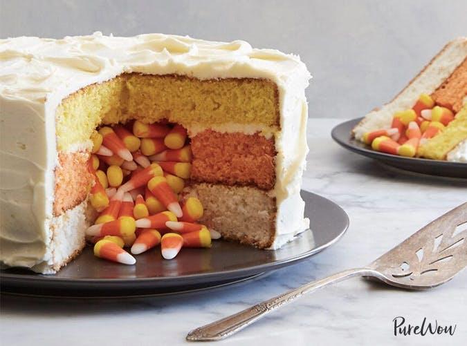 candy corn surprise cake1