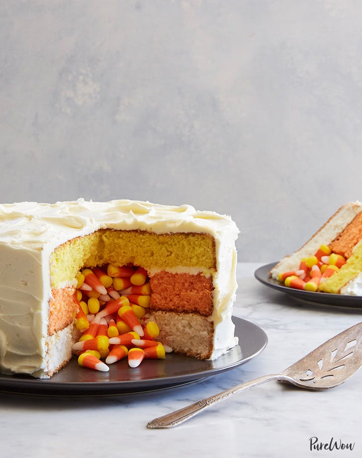 candy corn surprise cake recipe