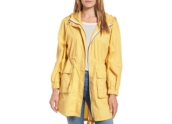 caslon yellow rain jacket