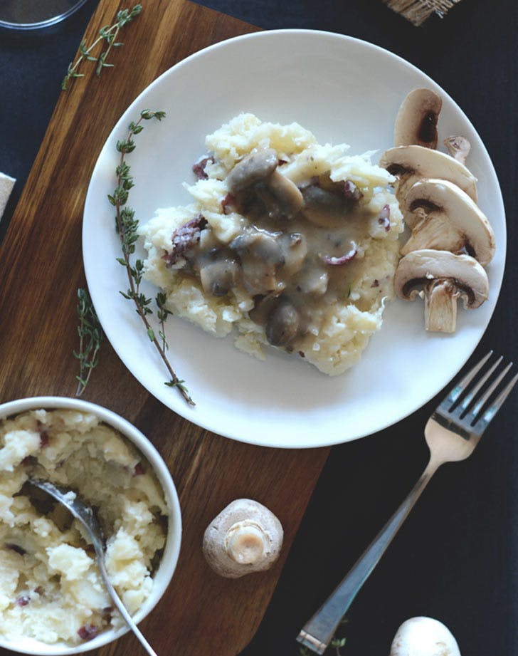cauliflower mashed potatoes mushrooms