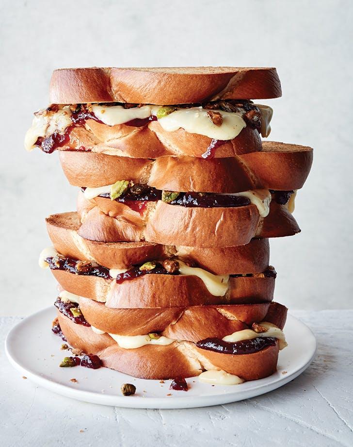 Cherry Cheeseball Grilled Cheese Sandwich