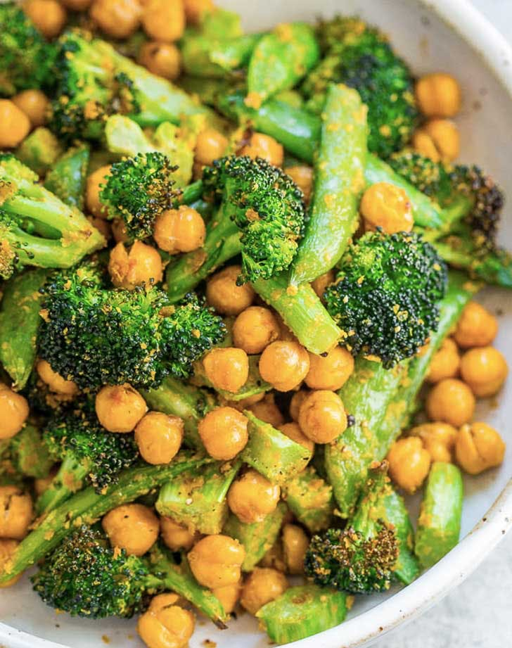 chickpeas broccoli