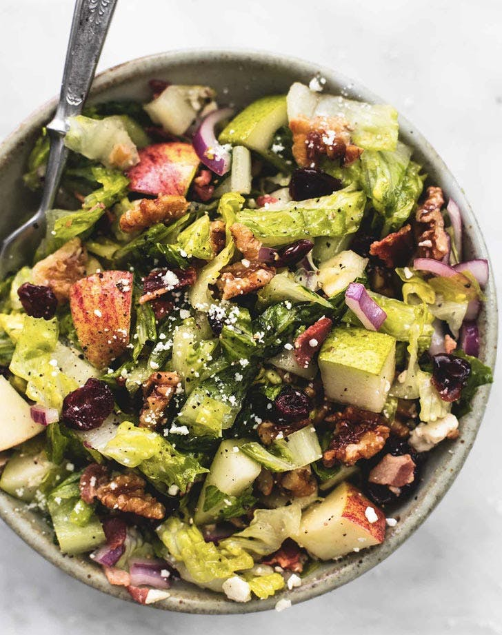 chopped autumn salad with apple cider dressing recipe