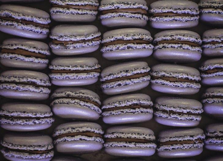 dark chocolate lavender macaroons bakery lorraine