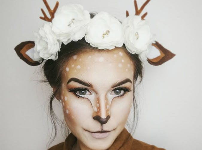 deer makeup halloween costume