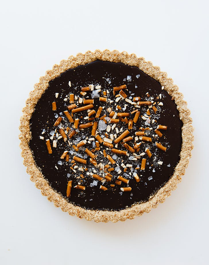 No-Bake Pretzel Chocolate Tart