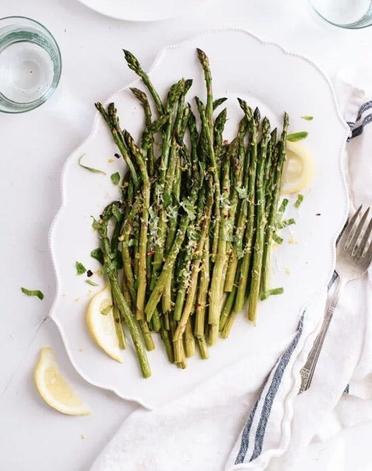 fall side dishes roasted asparagus