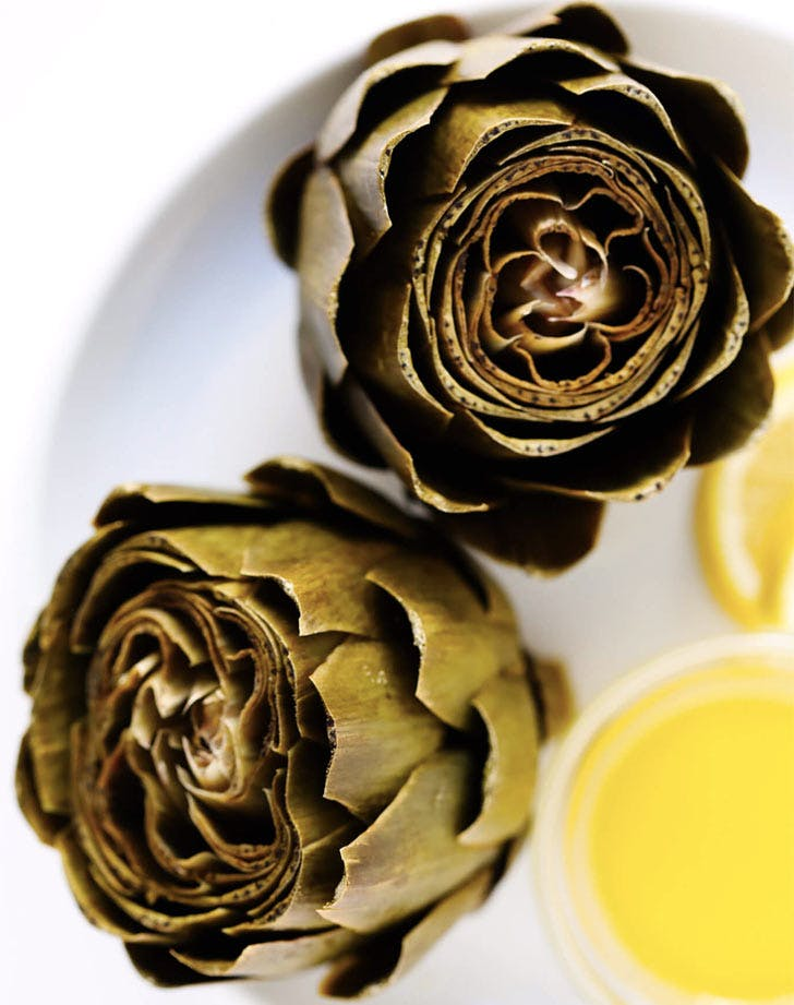 fall side dishes steamed artichoke