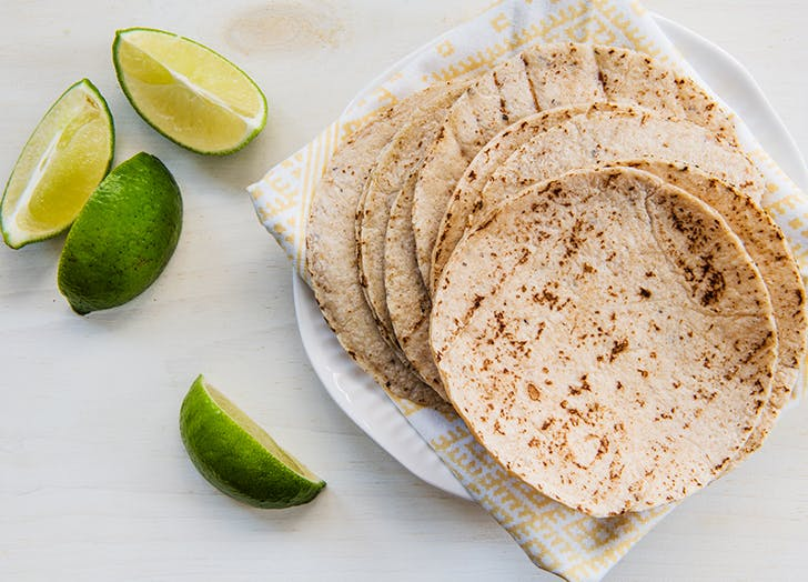 flour tortillas with lime