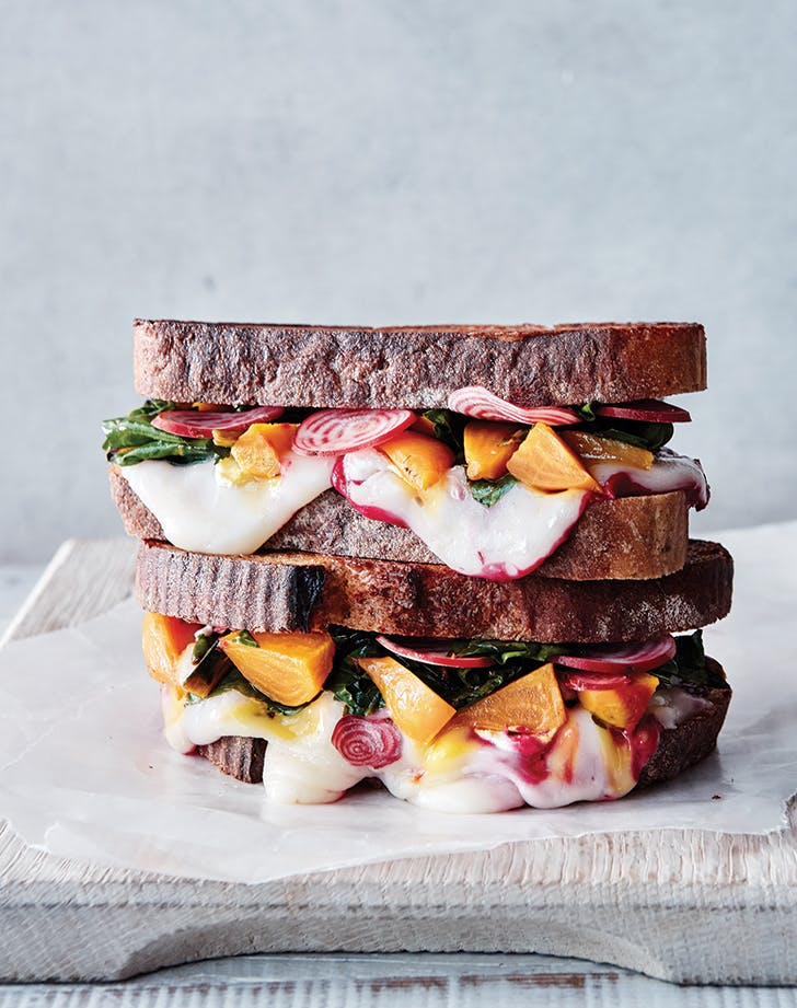 Grilled Goat Cheese Sandwiches with Balsamic Beets