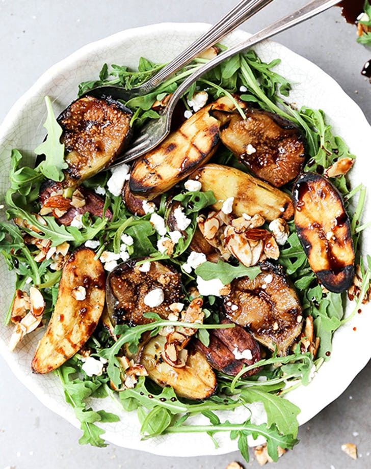 grilled potato fig salad maple almond clusters recipe