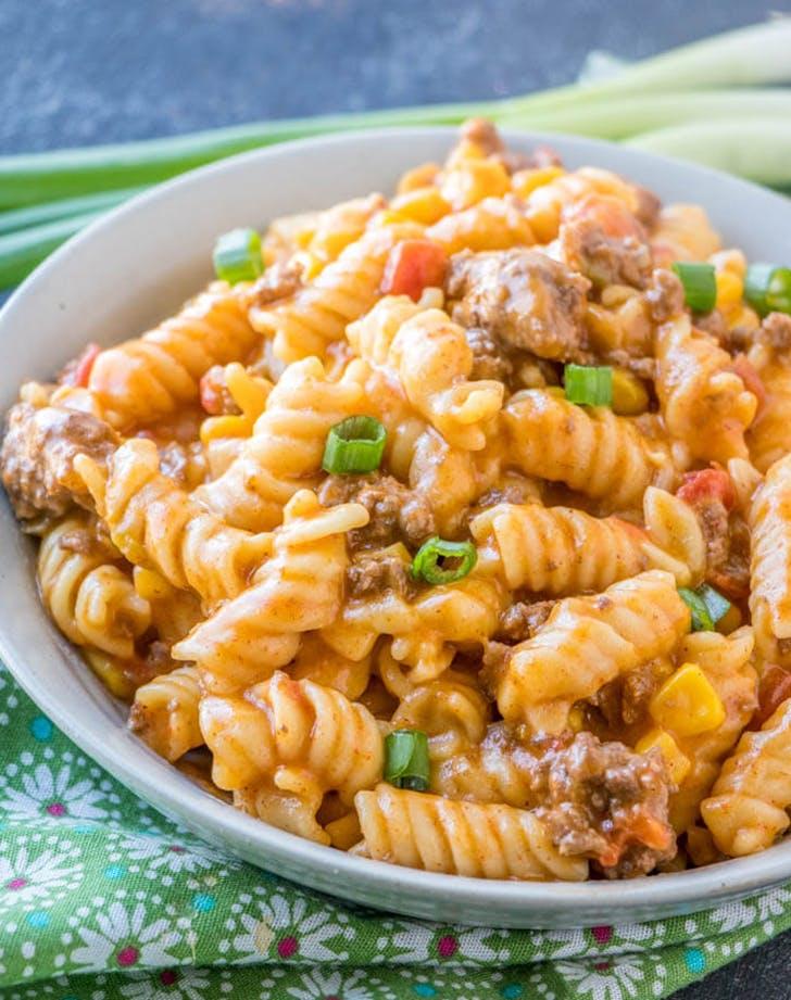 instant pot taco pasta recipe