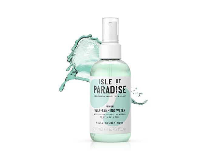 isle of paradise tanning water bottle