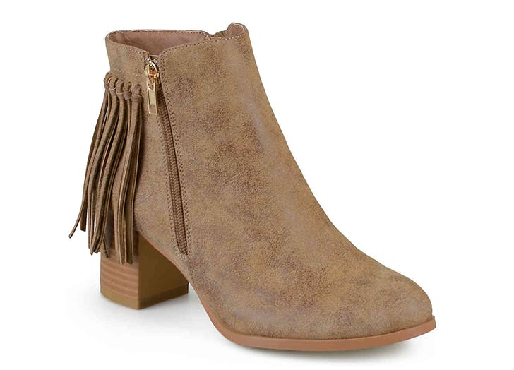 journee western ankle boots
