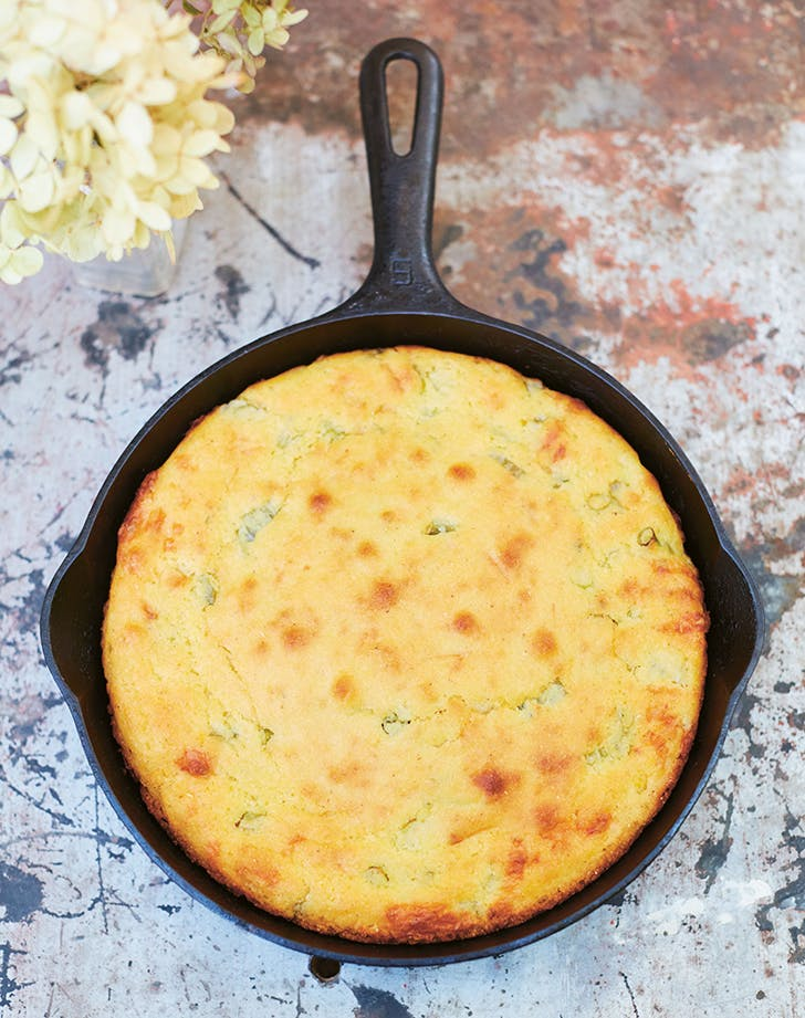 Julia Turshens Skillet Cornbread with Cheddar and Scallions