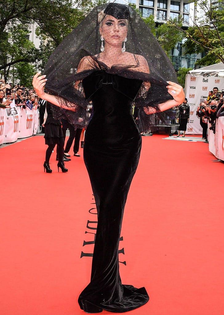 lady gaga veil star is born premiere