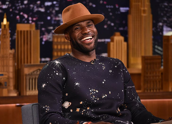 lebron james brown hat talk show