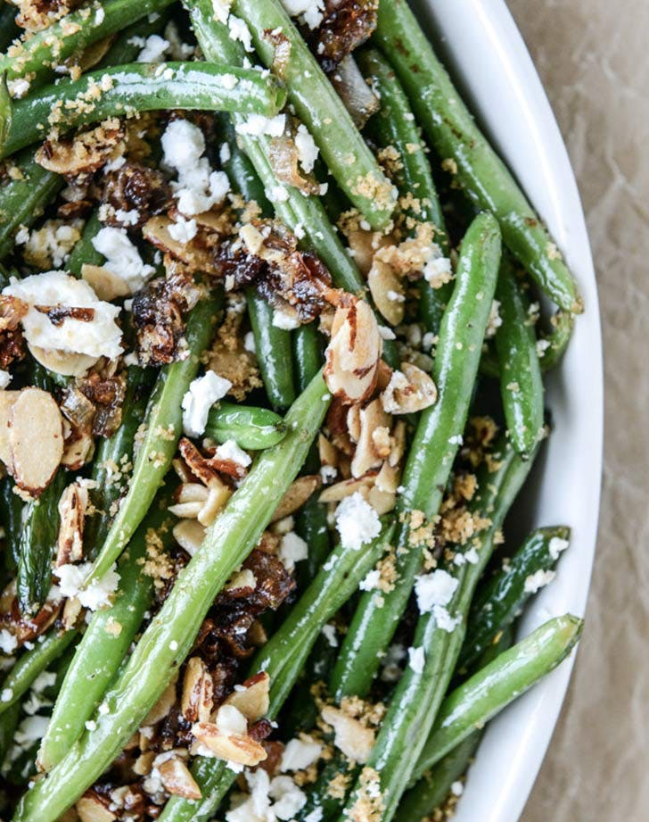 loaded green bean skillet