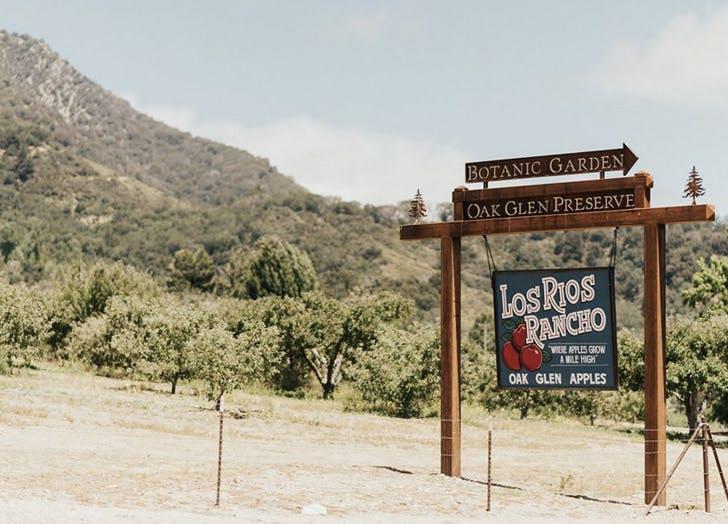 los rios rancho botanic garden sign