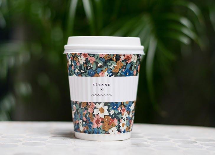 maman flora coffee cup