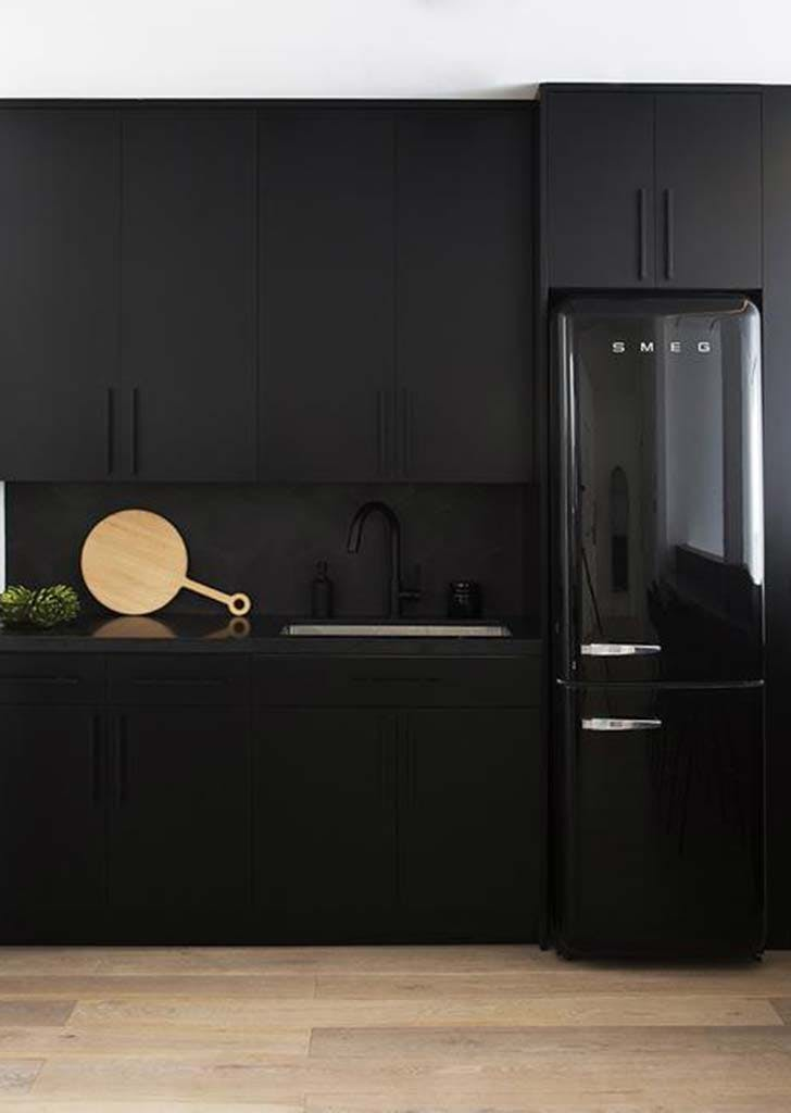 matte black kitchen