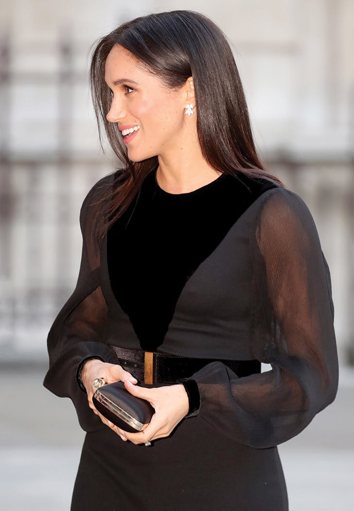 meghan markle black givenchy dress sleeves