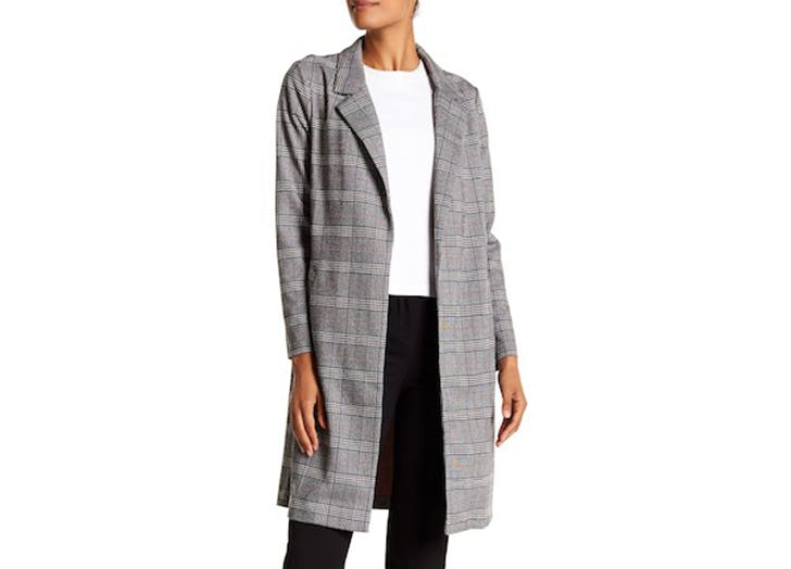 melloday plaid coat