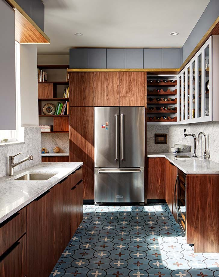 metallic brooklyn kitchen