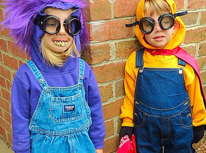 minions costumes two kids