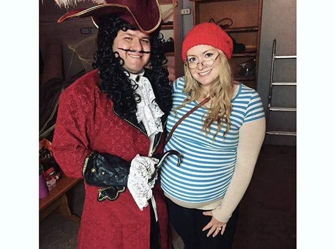 mr smee pregancny costume