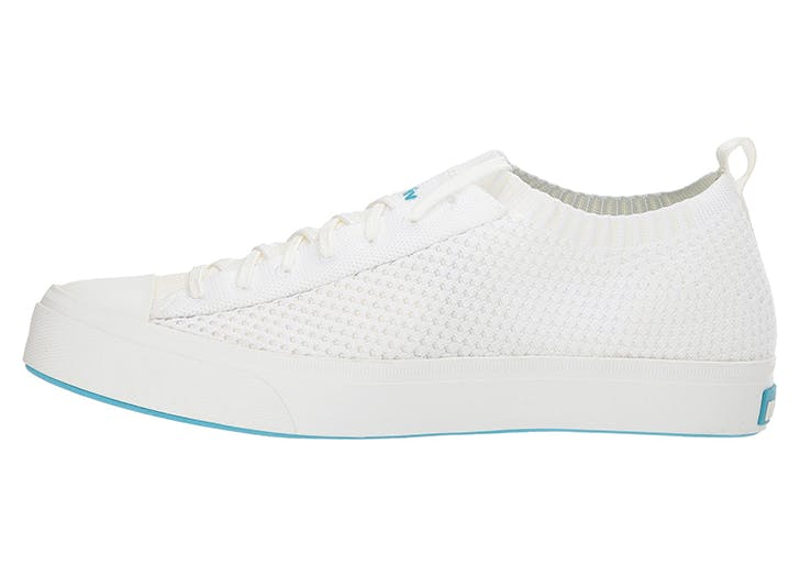 native shoes white knit sneakers