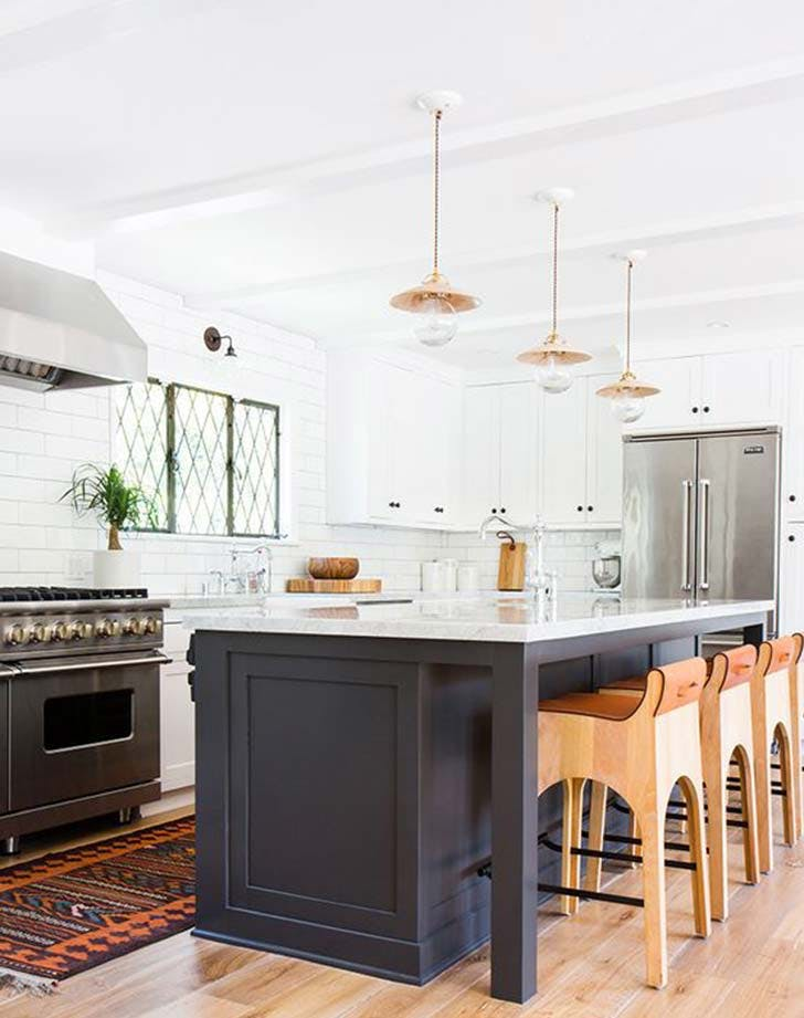 navy white kitchen