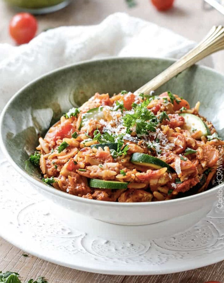 one pot italian chicken and orzo recipe
