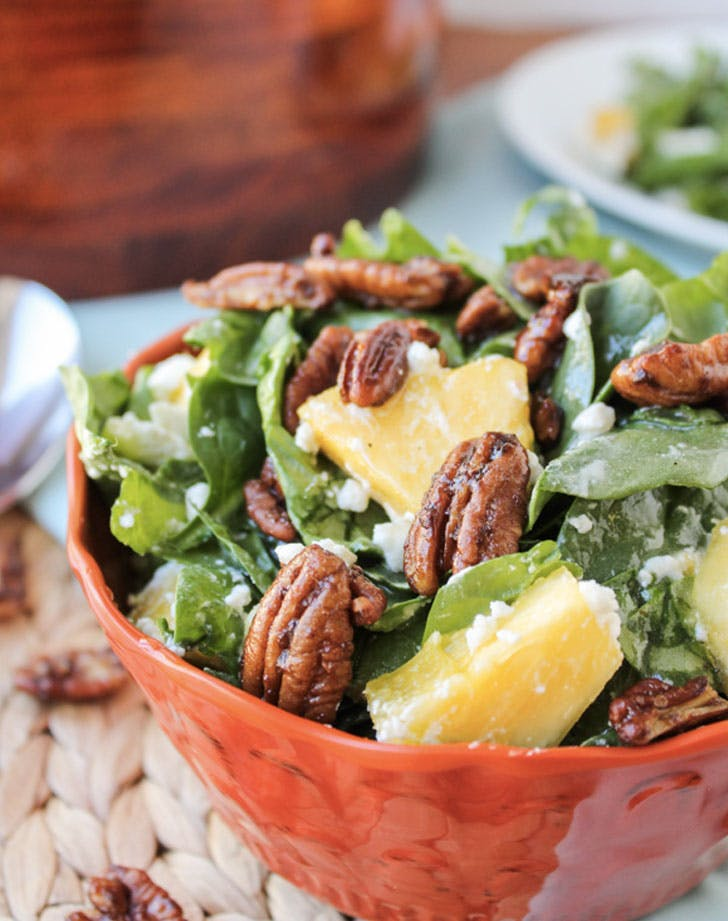 pineapple spinach salad recipe