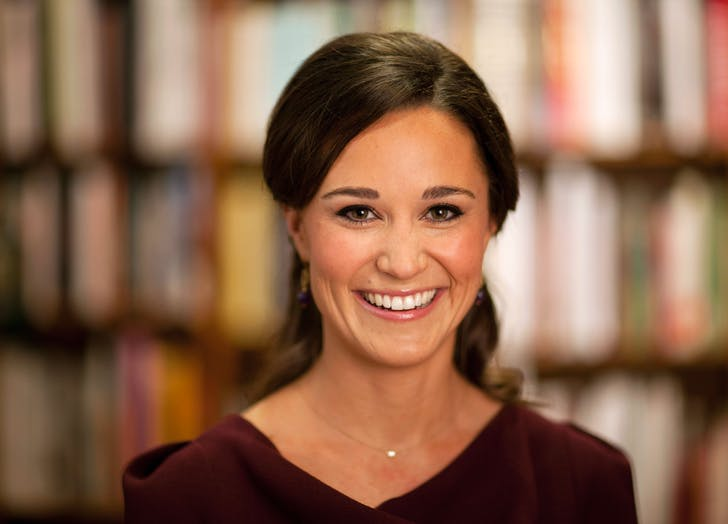 pippa middleton in a library