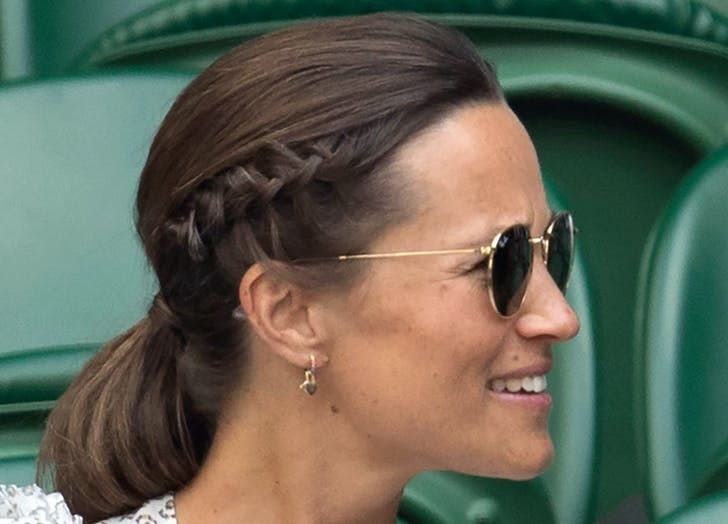 pippa middleton with a braided ponytail
